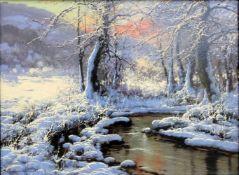 Laszlo Neogrady, 1896 Budapest - 1962 ebendaÖl/Leinwand. Verschneite Winterlandschaft