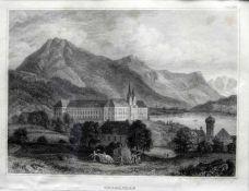 Ansicht des Klosters TegernseeStich/Papier, Ansicht des Benediktinerklosters mit einer