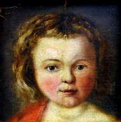 Portrait eines jungen MädchensÖl/Leinwand auf Hartfaserplatte doubl. Ein junges, rot