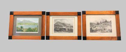 Konvolut Tegernsee-AnsichtenKupferstich und Lithographie/Papier. Ansichten von Tegerns