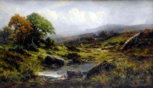 Charles S. Shaw, 19. Jh. England Öl/Leinwand. Reiter in weiter, impressionistischer