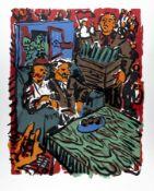 Jörg Immendorff1945 Bleckede/Elbe - 2007 DüsseldorfStudierte in den 1960er-Jahren an der Ku