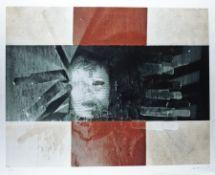 Katharina Sieverding1944 PragWeltlinie 1999Micro-Piezo-Druck auf Papier; H 809 mm, B 10