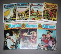Der Rote Korsar, Bastei Vlg. 1969 & Marco Polo, Lehning Vlg., 1964, 12 Hefte, Z 1-2