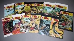 Tibor - Held des Dschungels, 25 Hefte, Großbände, Lehning Vlg., Z 1-2<b