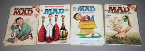 MAD Deutsche Ausgabe, Williams Vlg., 4 seltene Hefte, 1970er Jahre, Z 1-2