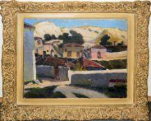 Leon Alexandru Biju, Balchik, Ölgemälde, Impressionistenrahmen<b