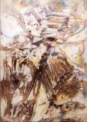 "Rudi Baerwind, ""Jazz"", großes informelles Ölgemälde, Paris 1961/66<br"