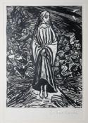 Ernst Barlach, 2 Graphiken, Holzschnitt, signiert & Lithographie