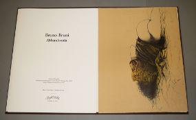 "Bruno Bruni, ""Abbandonata"", signierte Farblithographie von 1979, in Original-Mappe<br"