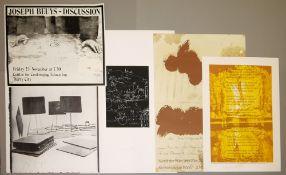 "Joseph Beuys, 5 signierte Graphiken/Plakate ua. ""De Honingpomp"", signierter Siebdruck, 1978 & ""Tafel"