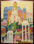 Anonym, Ende 20. Jh., Ansichten von Rom, Markusdom, Knossos und Hagia Sophia, 4 Ölgemälde,