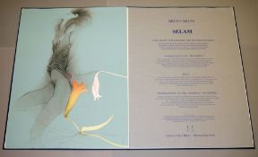 """Bruno Bruni, Mappe """"Selam"""" von 1986/87 mit 3 großformatige Farblithographien: """"Sola"""", """"Passeggiata"""