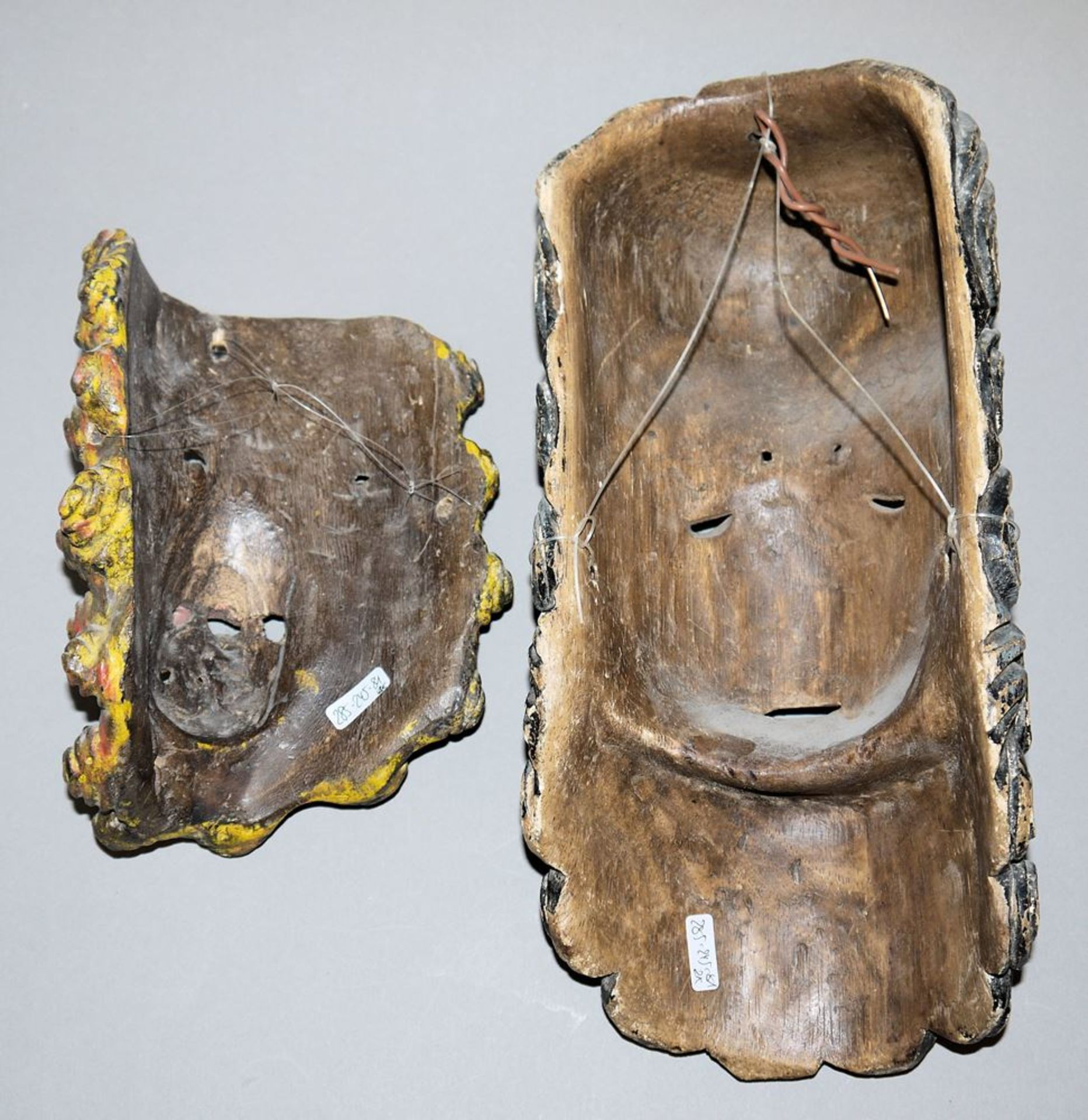 Los 584 - Zwei Tanzmasken aus Guatemala