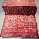 Zwei Teppiche Kordi Gutschan und Turkmene, Persien, ca. 30-50 Jahre