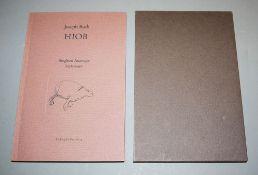 """Siegfried Anzinger, """"Joseph Roth - Hiob"""", Vorzugsausgabe mit signierter Radierung 1994"""