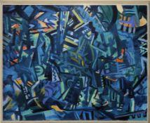 Heinz Bodamer, Informell- konstruktive Komposition, Ölgemälde von 1959, gerahmt