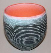 "Pip Drysdale, Keramikvase der Serie ""Tanami Traces"", Australien XX./XXI."