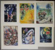 Marc Chagall, 6 Granolithographien, verlagsfrisch, o. Rahmen