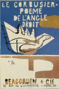"""Le Corbusier, """"Poème de l'angle droit"""", Farblithographie, (19)55 für Berggruen + Cie., Paris"""