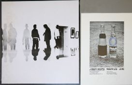 Joseph Beuys, 3 Tonnen Edition, PVC-Siebdruck & Evervess Club Soda, signiertes Offset, o.
