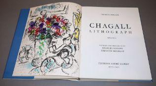 """Marc Chagall, """"Lithograph IV, 1969-1973"""", Wvz von 1974 mit den 2 Farblithographien, im SchuberMarc"""