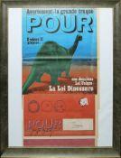 """Joseph Beuys, signierte und gestempelte Zeitschrift """"Pour"""" aus den 1970er Jahren, gerahmt"""