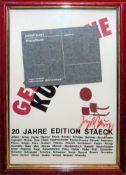 """Joseph Beuys, Filzpostkarte """"20 Jahre Edition Staeck"""", Heidelberg, signiert, gerahmt"""
