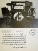 Hanne Darboven, Tageszettel 17.10.85, signierte Offsetlithographie von 1985, o. Rahmen