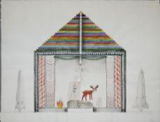 "Alex Cerveny, ""Éfeso O Templo de Artemisa"", Mischtechnik, 1991"