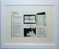 "Joseph Beuys & Panamarenko, ""Saltoarte"", signiertes Multiple von 1975, gerahmt"