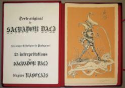 """Salvador Dali, """"Les songes drolatiques de Pantagruel"""", 25 signierte, teils farb"""