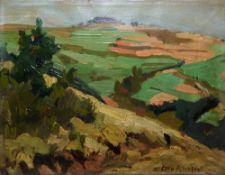 Otto Altenkirch, sächsische Landschaft, Ölgemälde 1920er Jahre