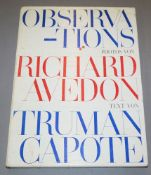 "Richard Avedon, ""Observations"", Photos, Text von Truman Capote, 1959 - ""a colla"