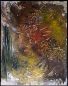 Rudi Baerwind, Informelle Komposition, Ölgemälde der 1960-er Jahre, gerahmt