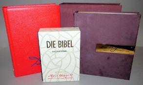 Zwei Marc Chagall Bibeln & Dali Bibel