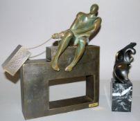 Spanische Bildhauer Jesus Campos & A. Paiz, zwei moderne Plastiken