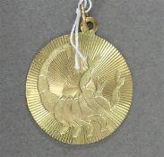 Anhänger 8 kt. Gelbgold, Sternkreiszeichen: Skorpion, rund, ca 2g,