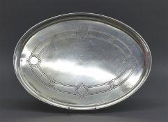Tablett 800er Silber, punziert, Schurmann u. Co., Frankfurt, oval, graviert, ca 418g, b 33 cm,