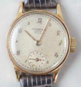 IWC Damenuhr / Armbanduhr mit Ldererband, Durchmesser 2,4 cm