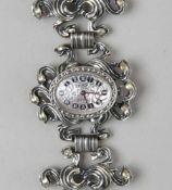 Damenuhr, 835 Silber, L 17 cm