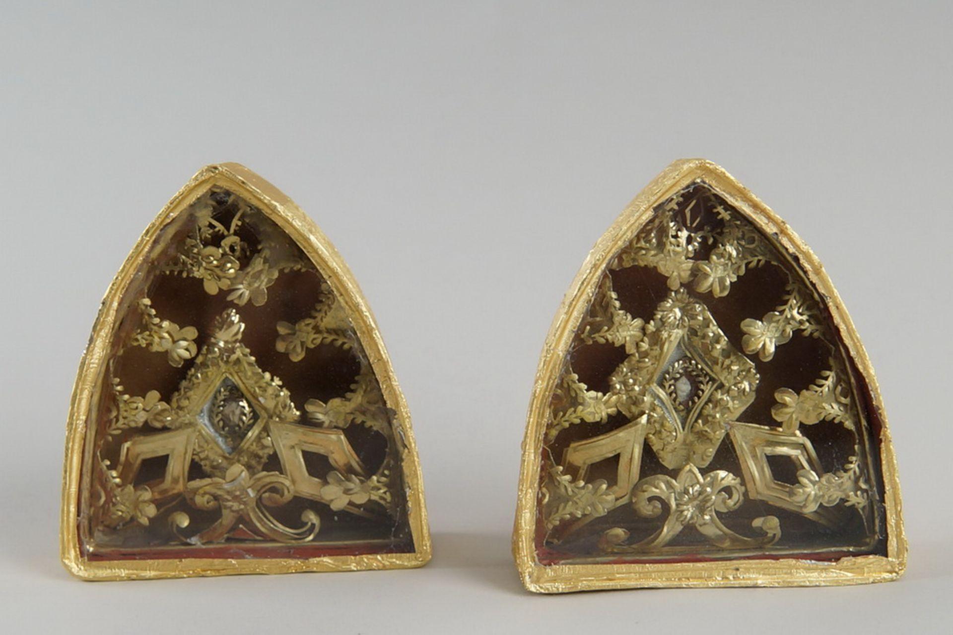 Los 22 - Zwei Klosterarbeiten / Reliquien, 9,5x9x2,5cm