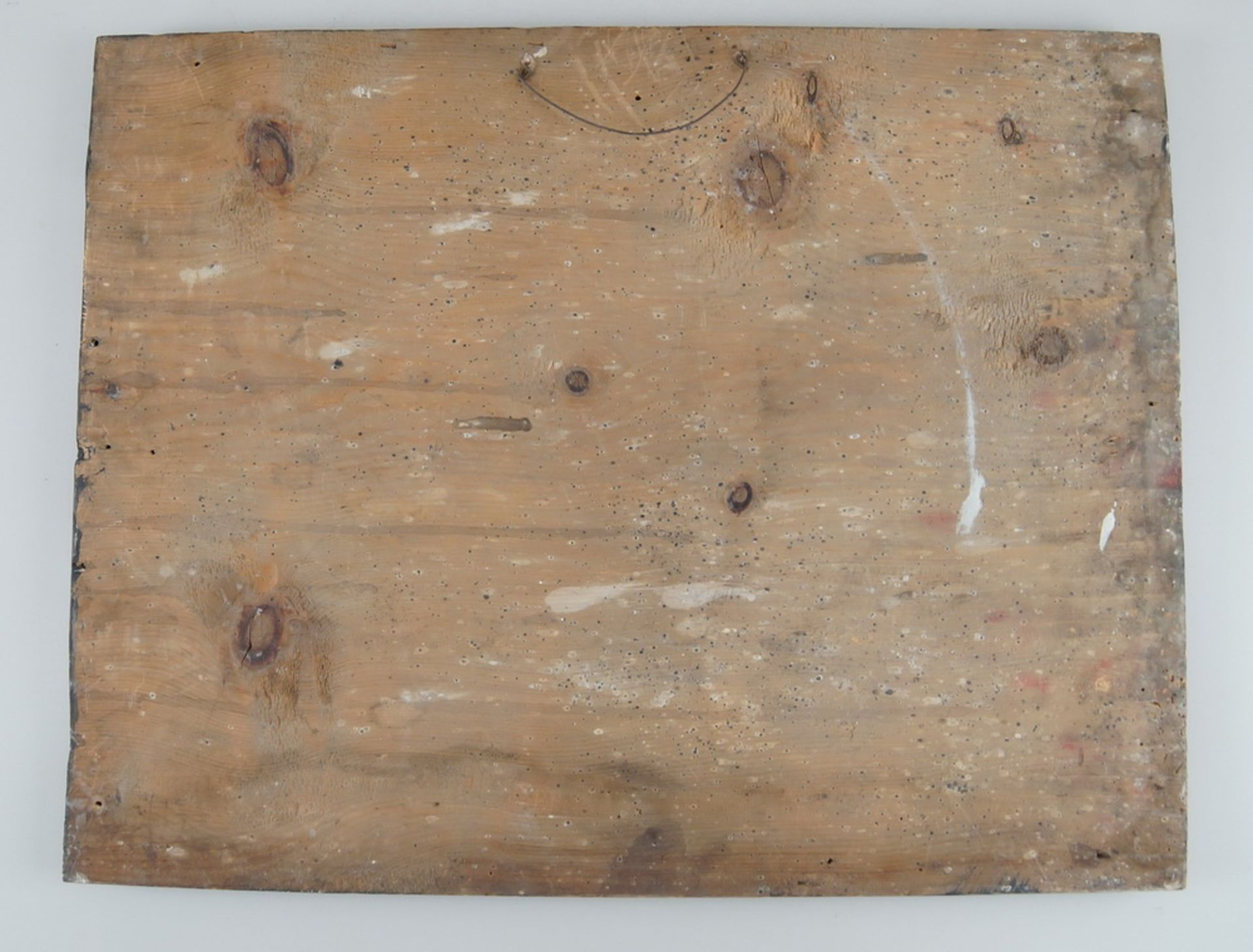 Grosse Votivtafel, Holz bemalt, datiert 1801 mit Sinnspruch, 45,5x58cm - Bild 5 aus 5