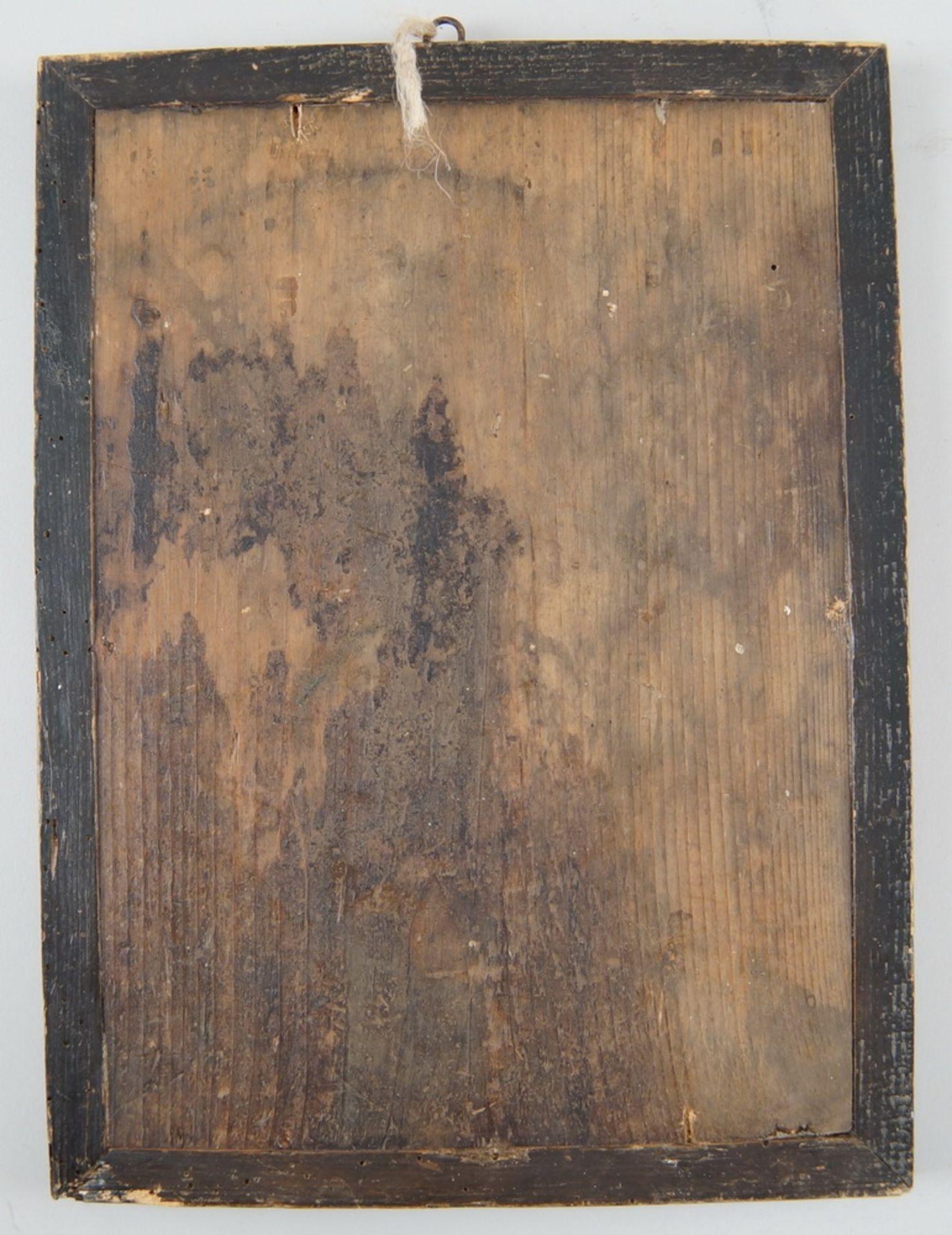 Hinterglasbild / Hinterglasmalerei, Jesuskind, mit Holzrahmen, 30,5x22,5cm - Bild 5 aus 5