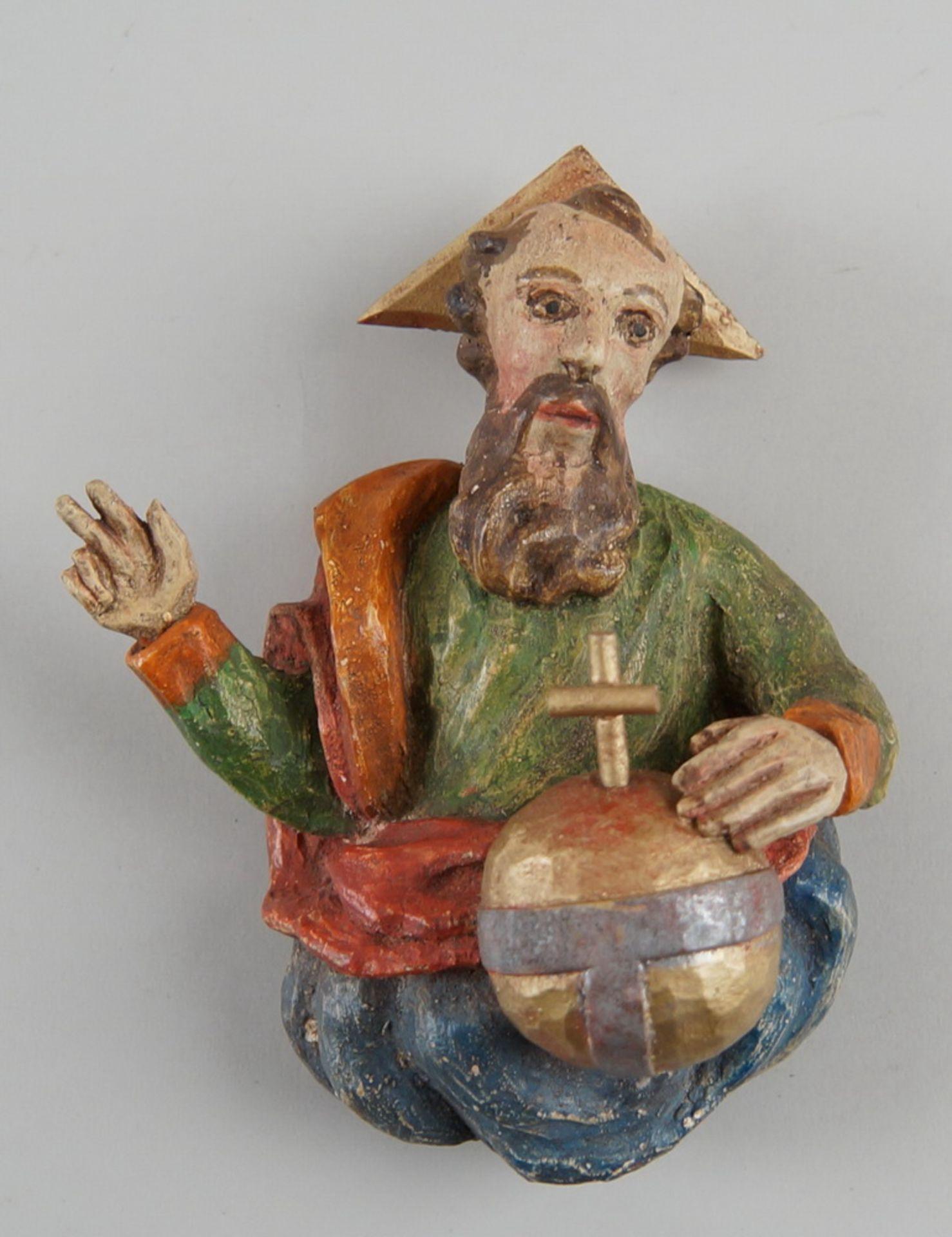 Los 33 - Gottvater, Holz geschnitzt und gefasst, 18x15cm