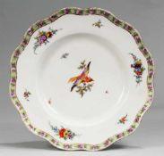 Marcolini-Teller mit Vogelmalerei