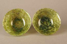 Paar Jadeschalen