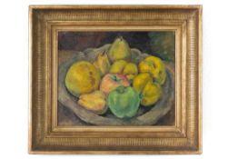 """Gemälde """"Obst Stillleben""""Öl Lwd., unl. sign., gerahmt.Maße: B56 x H48cmGemälde """"Obst Stillleben""""Öl"""