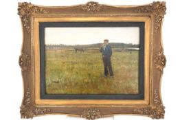 """Gemälde """"Auf der Pferdeweide"""""""