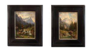 Paar Landschaftsgemälde M.Schwab